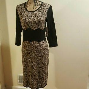 NWT Jones New York Floral Knit SWEATER Dress